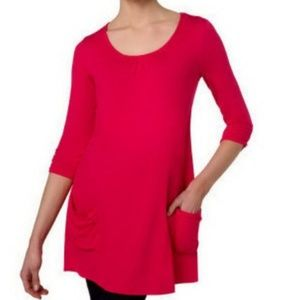 LOGO by Lori Goldstein Pocket Tunic